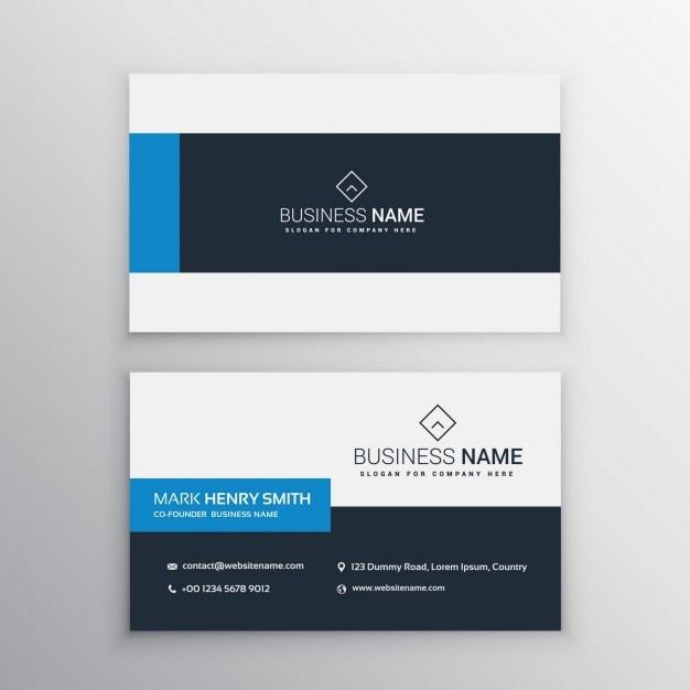 Sauber Minimal Visitenkarte Vorlage Download Der