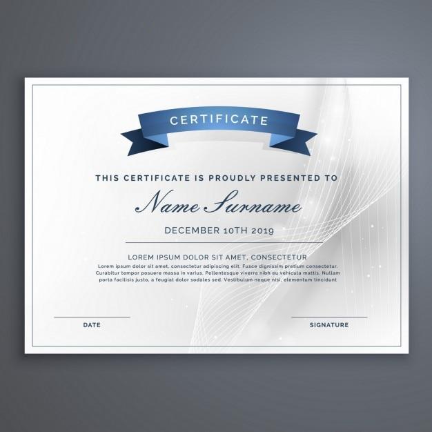 Sauber und modern Diplom-Zertifikat-Vorlage | Download der ...