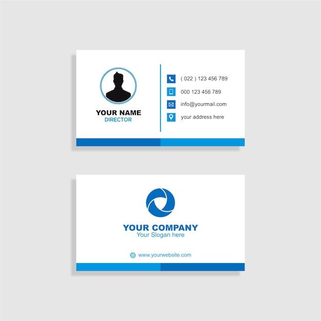 Saubere Businesskarte | Download der Premium Vektor