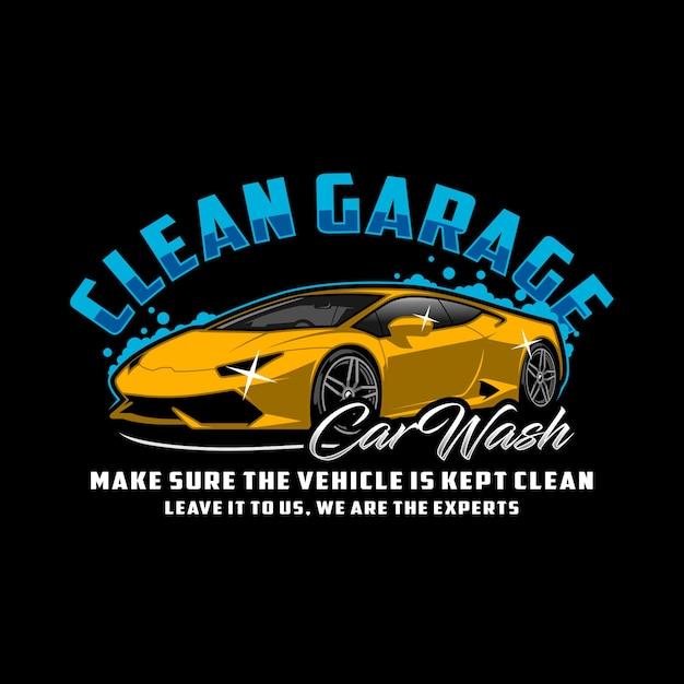Saubere garage autowaschanlage Premium Vektoren