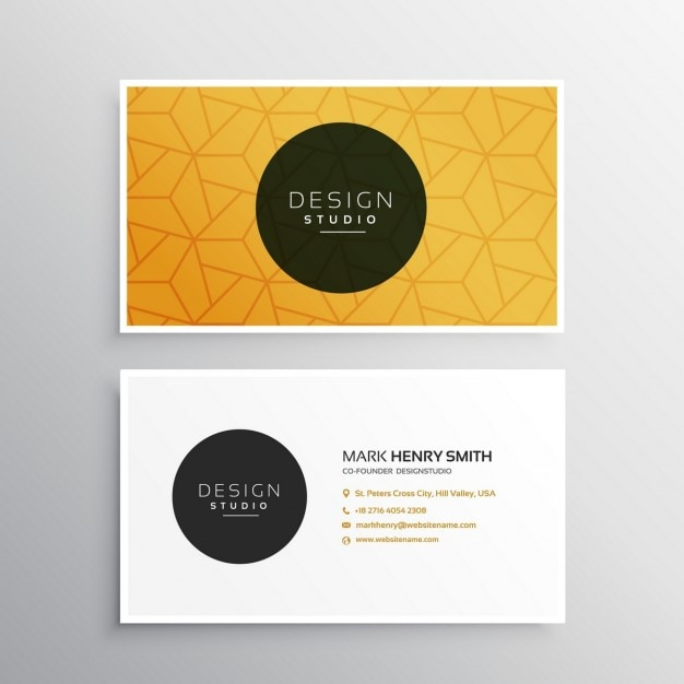 saubere minimal visitenkarte vorlage mit musterform
