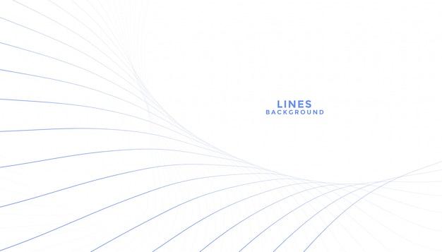 Saubere mischung der linien fließenden weißen hintergrund Kostenlosen Vektoren