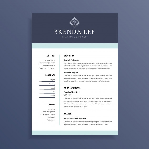 Saubere professionelle Lebenslauf CV Template Design | Download der ...