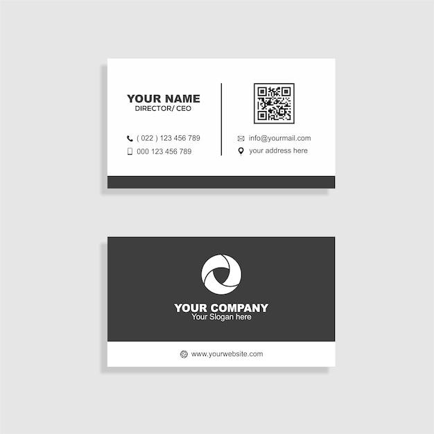 Saubere Visitenkarte | Download der Premium Vektor