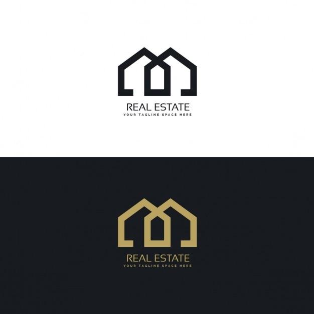 sauberes Haus Logo für Immobilien-Unternehmen Kostenlose Vektoren