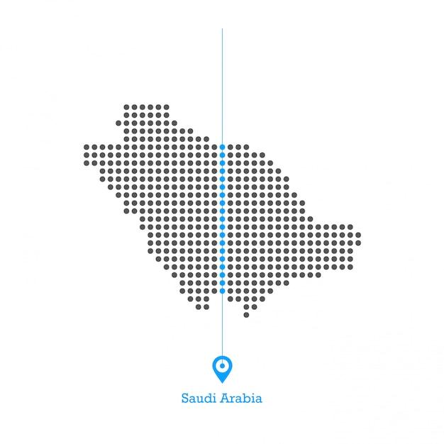 Saudi-arabien doted karte desgin vektor Premium Vektoren