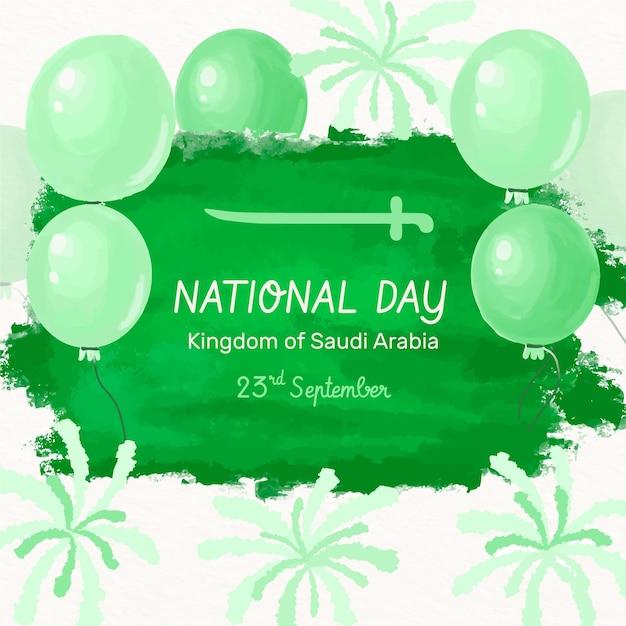 Saudi national day design Premium Vektoren
