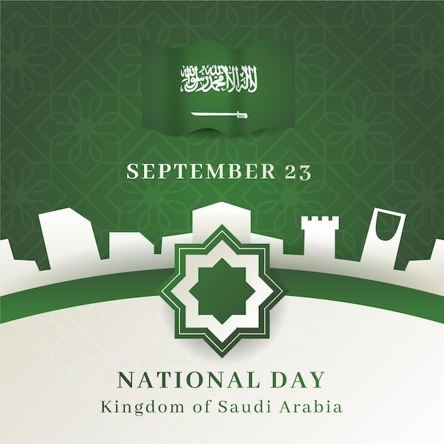 Saudi nationalfeiertag illustration Premium Vektoren