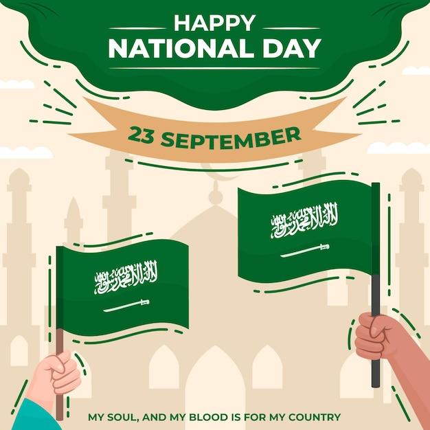 Saudi-nationalfeiertagskonzept Premium Vektoren