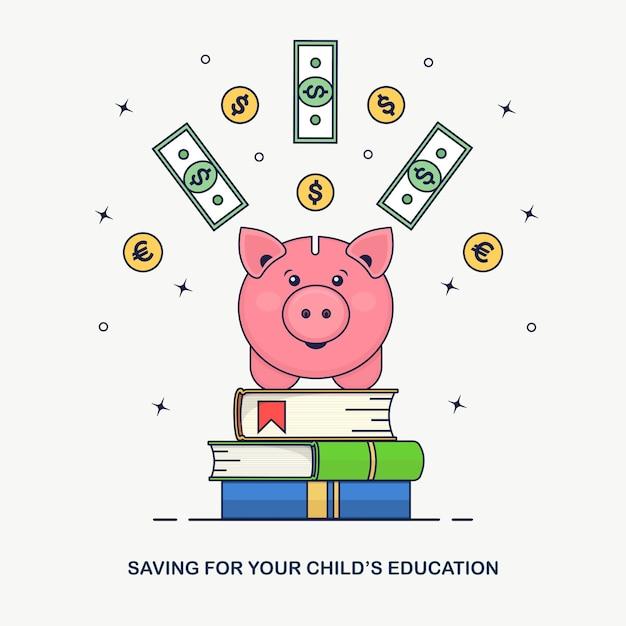 Save_money_line Premium Vektoren
