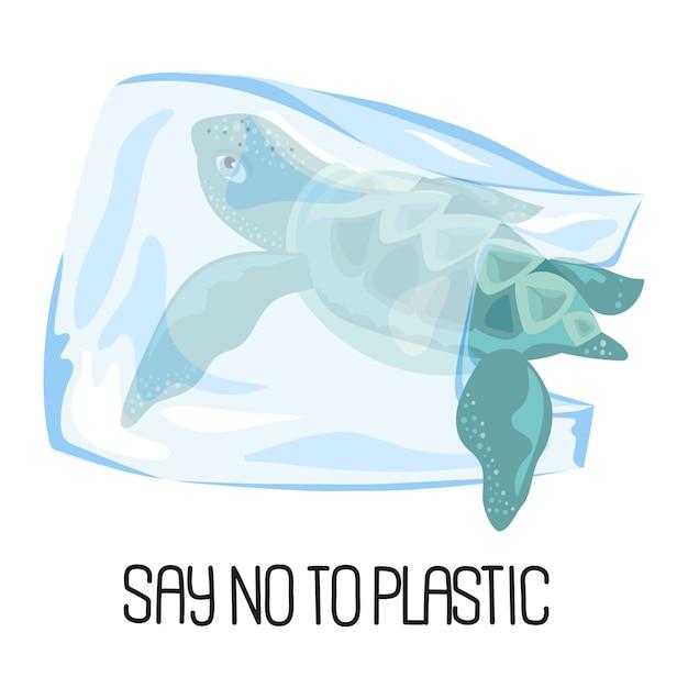 Save sea ökologisches problem banner vektor Premium Vektoren