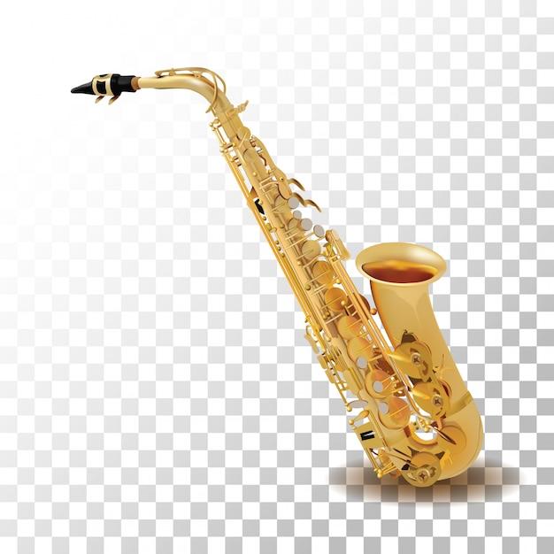 Saxophon getrennt auf transparentem Premium Vektoren