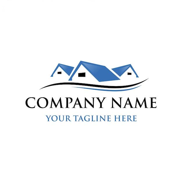 Schablone logo immobilien Premium Vektoren