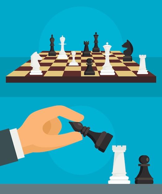 Schach-hintergrund Premium Vektoren