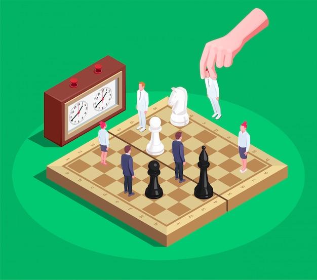 Schach isometrische komposition Kostenlosen Vektoren