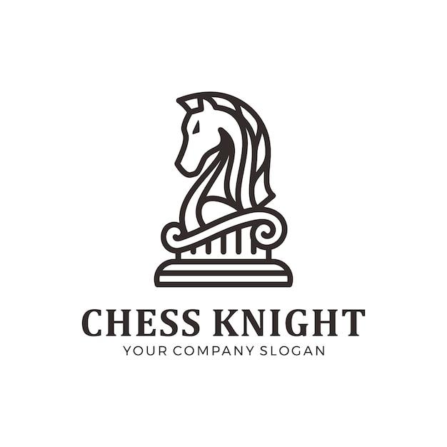 Schachritterlogo, pferdelogo Premium Vektoren