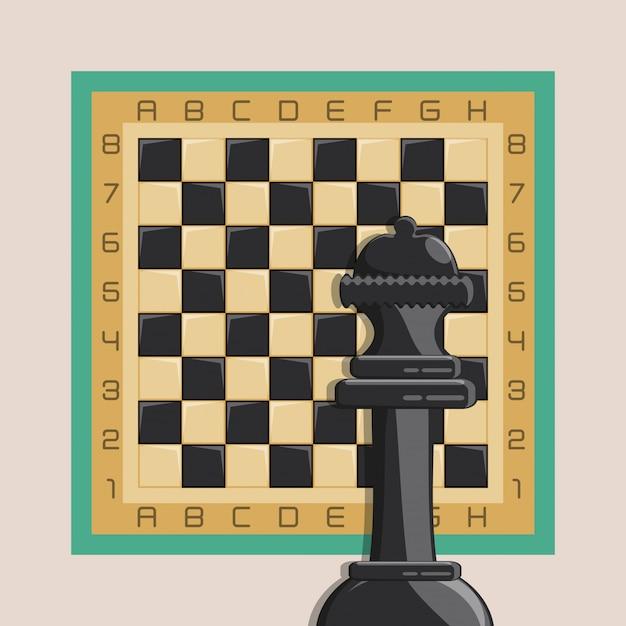 Schachspiel Premium Vektoren