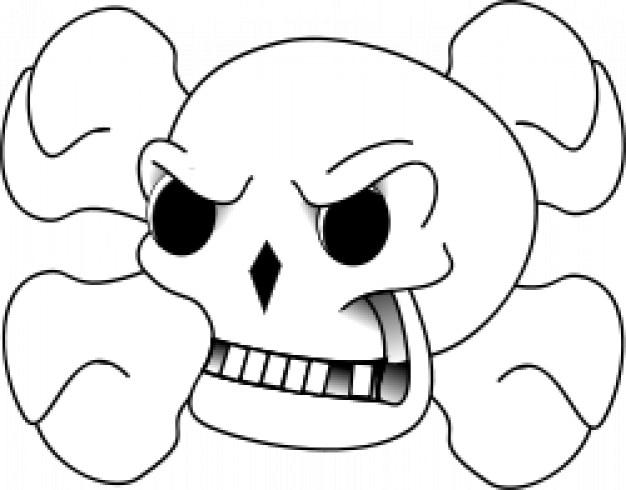 Schädel und Knochen | Download der kostenlosen Vektor