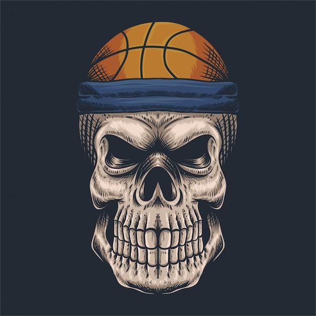 Schädel basketball Premium Vektoren