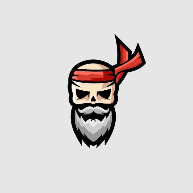 Schädel ninja esports logo Premium Vektoren