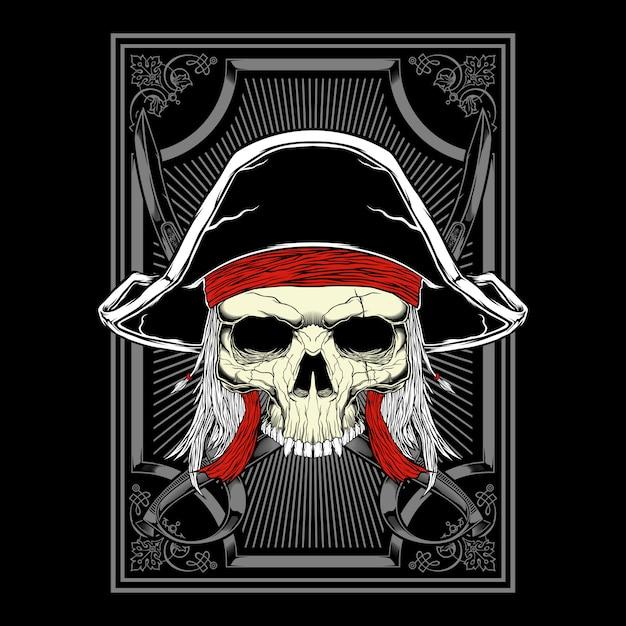 Schädel pirat Premium Vektoren