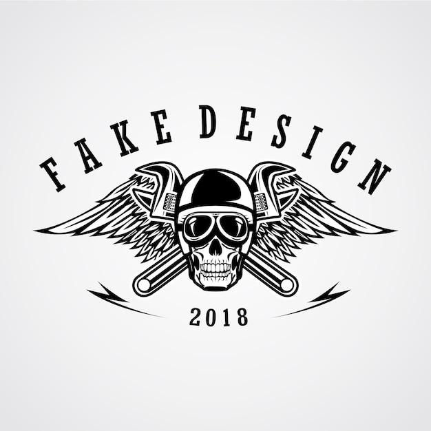 Schädel straße patch design Premium Vektoren