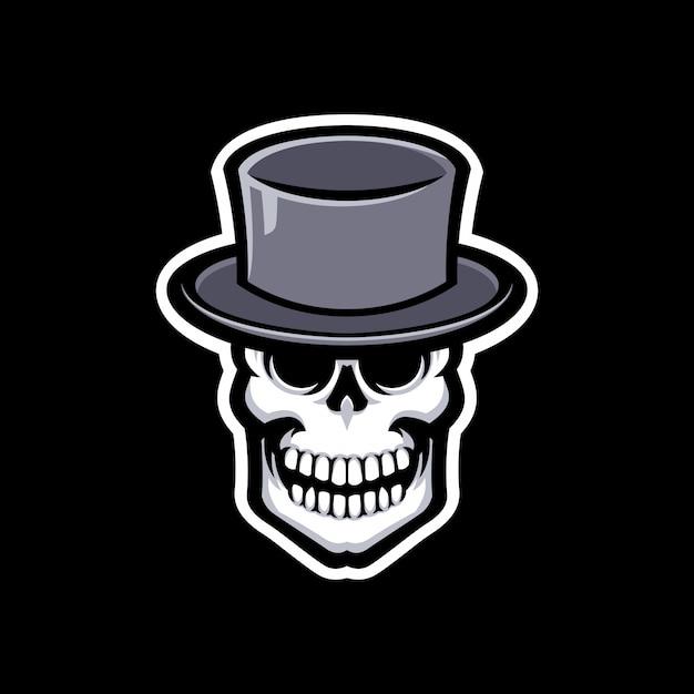 Schädelmaskottchen logo lokalisiert Premium Vektoren