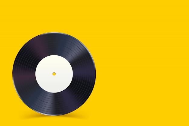 Schallplatte auf gelb 1 Premium Vektoren