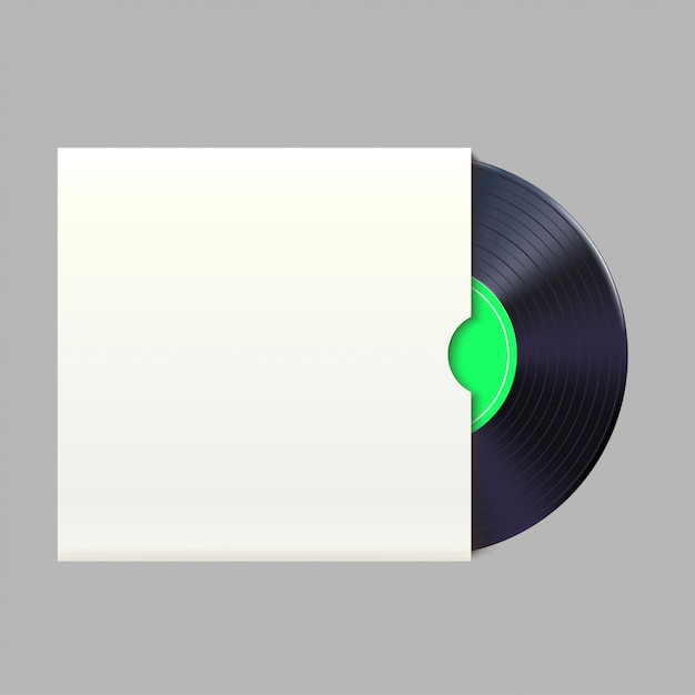 Schallplatte im pack Premium Vektoren