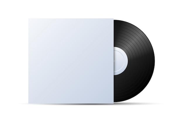 Schallplatte mit cover mockup Premium Vektoren