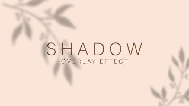 Schattenüberlagerungseffekt. transparentes weiches licht und schatten von zweigen, pflanzen, blättern und blättern. Premium Vektoren