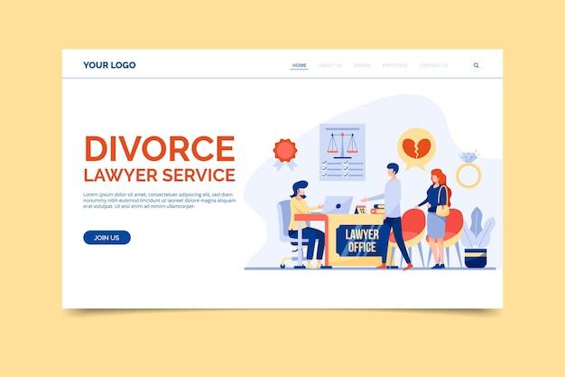 Scheidungsanwaltschaft Kostenlosen Vektoren