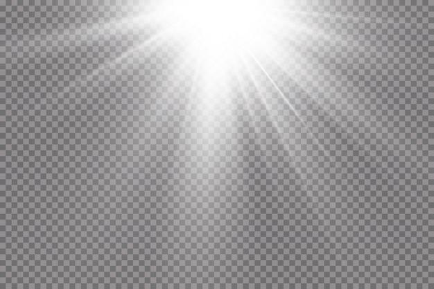 Scheinwerfer. lichteffekt. Premium Vektoren