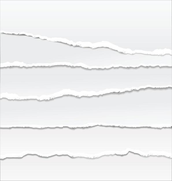 Schichten von zerrissenem papier übereinander gelegt Premium Vektoren