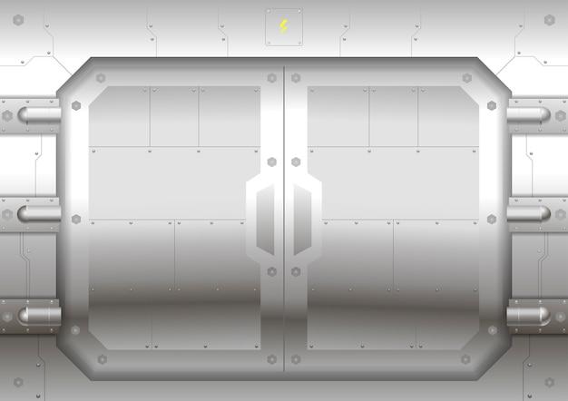 Schiebetor aus metall Premium Vektoren