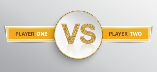 Schild für vs-duell-vorlage Premium Vektoren