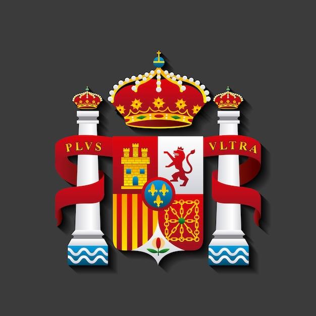 Schild klassische ikone der spanischen kultur Premium Vektoren