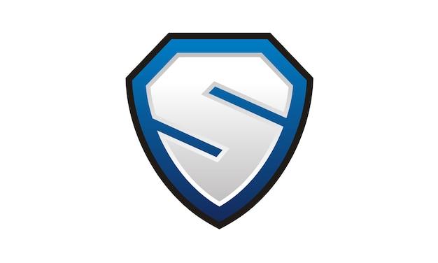 Schild / sicher / oder initial s logo design Premium Vektoren