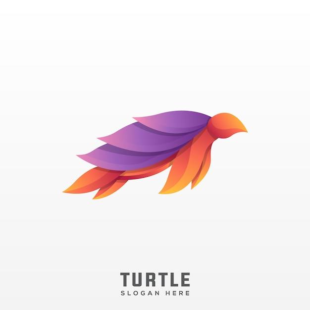 Schildkröte logo moderne farbverlauf Premium Vektoren