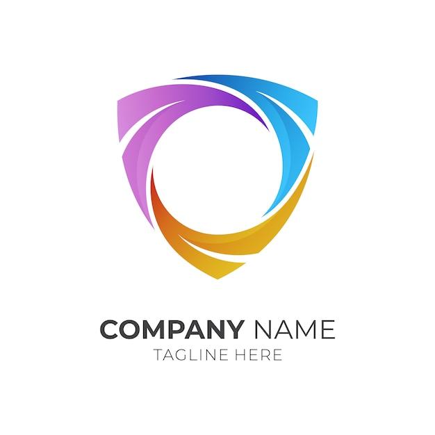 Schildrahmen-logo-vorlage Premium Vektoren
