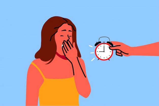 Schlaf, gesundheit, pflege, traum, entspannungskonzept Premium Vektoren