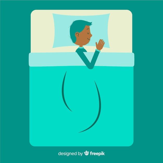 Schlafende person Kostenlosen Vektoren