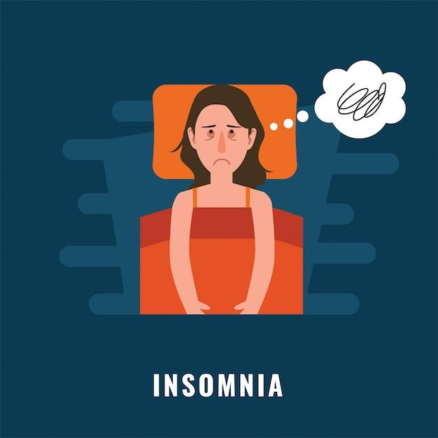 Schlaflosigkeit Premium Vektoren