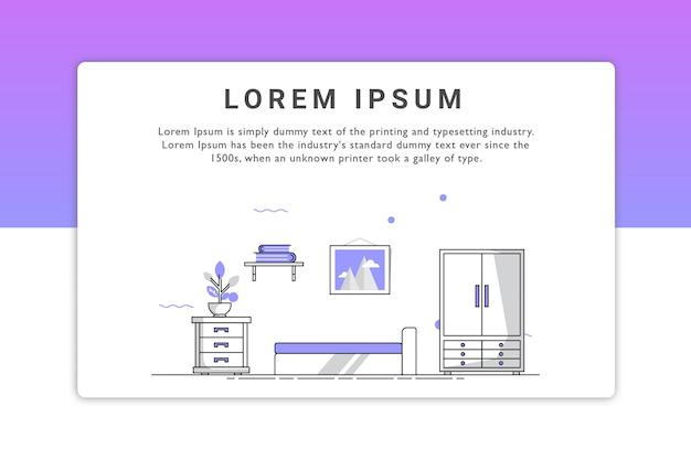 Schlafzimmer illustration Premium Vektoren
