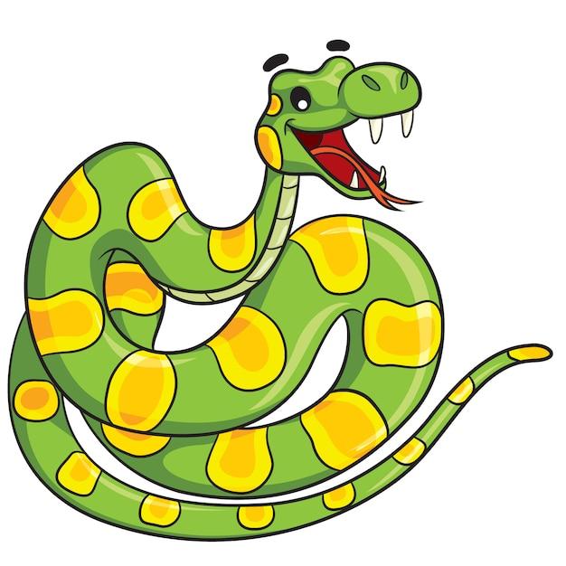 Schlangen-cartoon Premium Vektoren