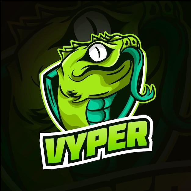 Schlangenmaskottchen-logo Kostenlosen Vektoren