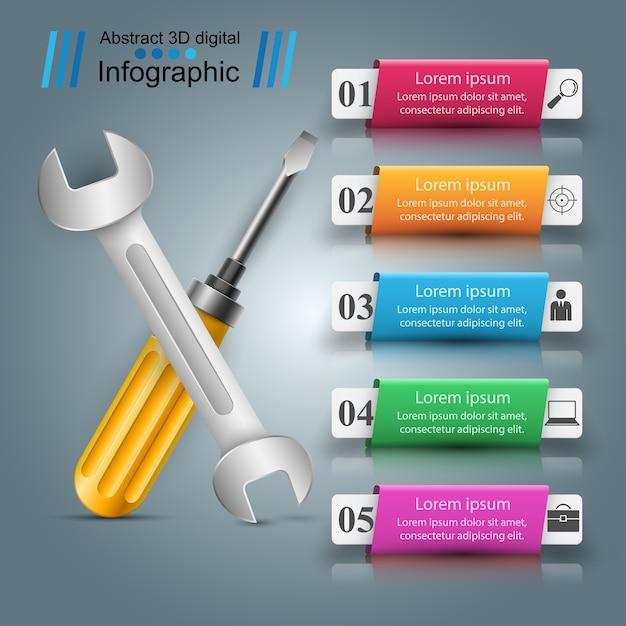 Schlüssel infografik Premium Vektoren