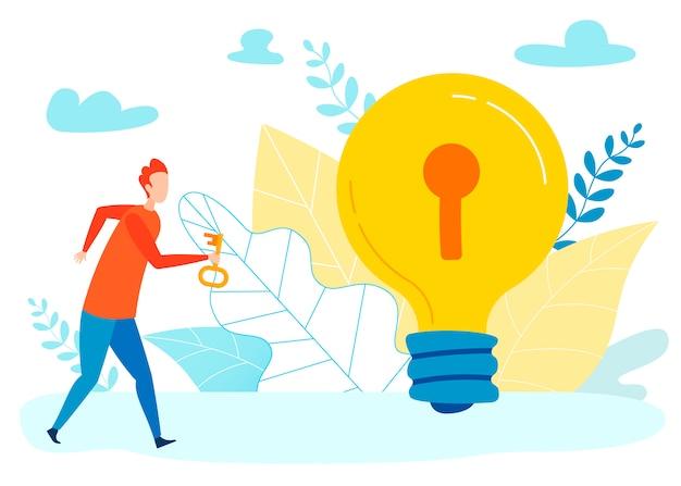Schlüssel zur geheiminformation flat Premium Vektoren