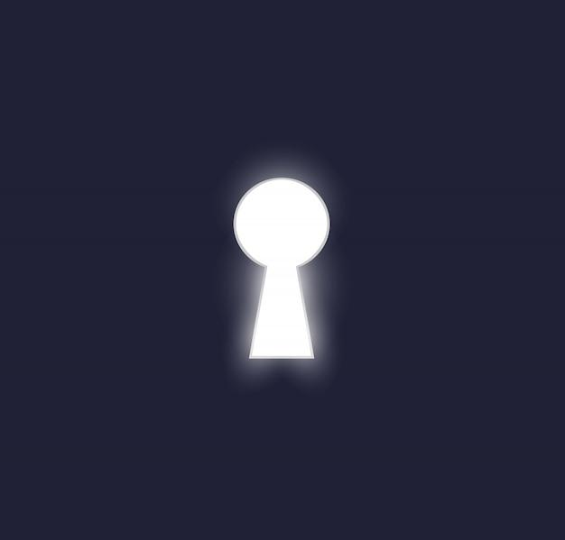 Schlüsselloch im türvektor Premium Vektoren