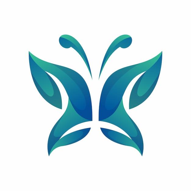 Schmetterling logo vektor Premium Vektoren